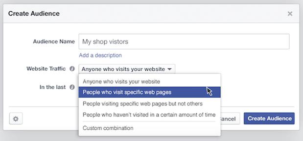 facebook ads Público personalizado melhoria
