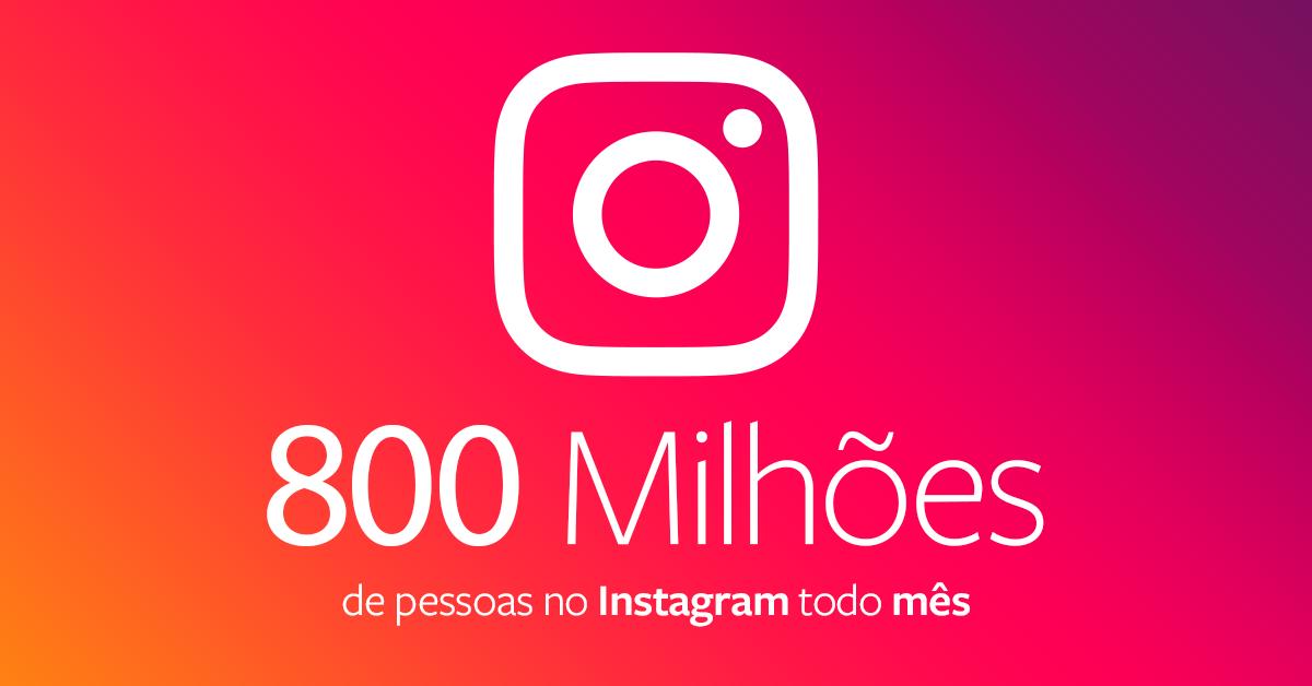 VP do Facebook anuncia que o Instagram tem 800 milhões de usuários todo mês