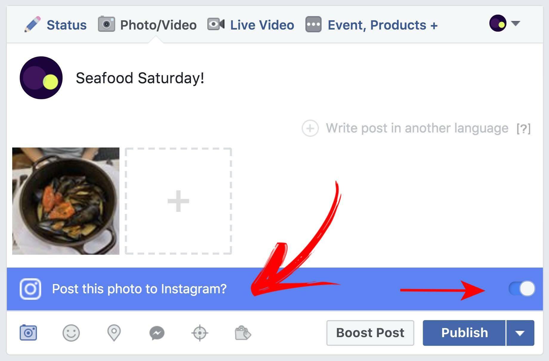 Você pode compartilhar suas postagens do Facebook para o Instagram