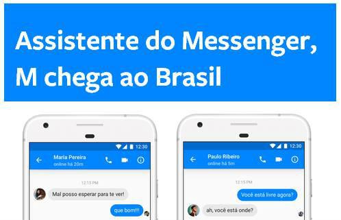 Novidade: M, a Assistente Virtual do Facebook Messenger chega ao Brasil