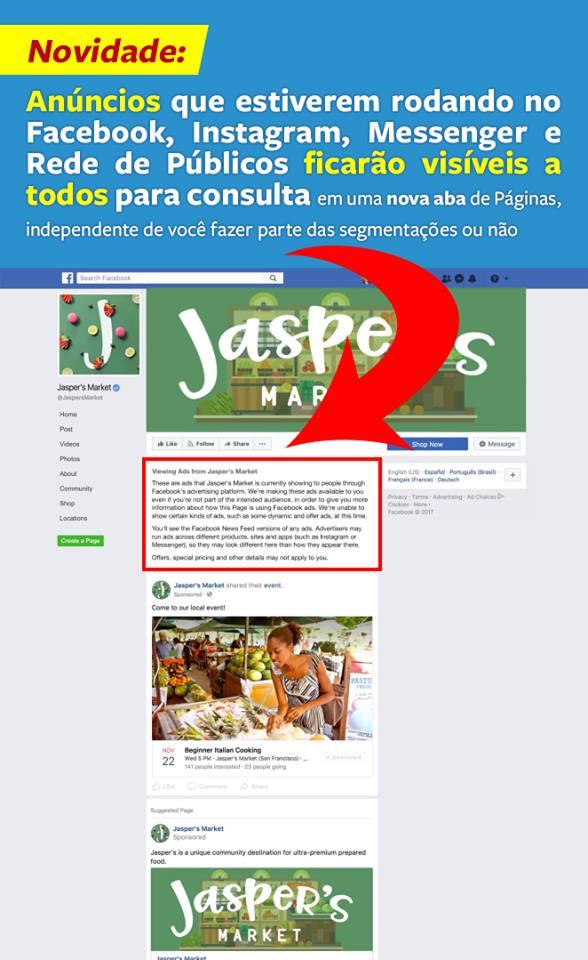 Facebook anuncia que anúncios terão mais transparência