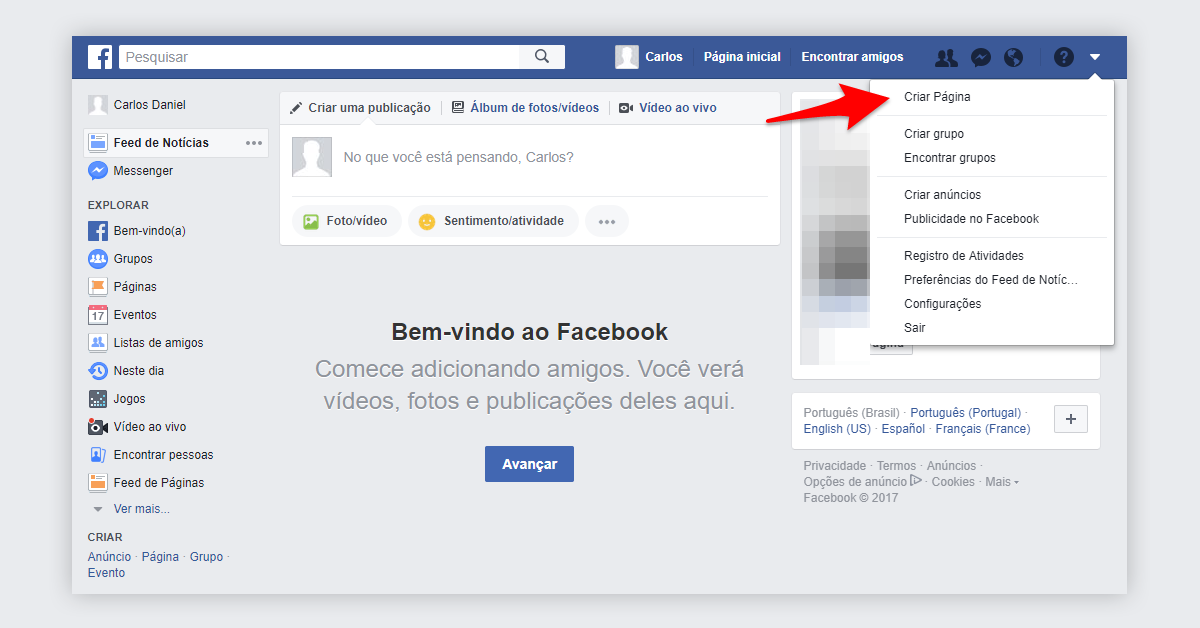 Passo 1 - Impulsionar publicação no Facebook