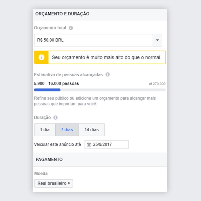Passo 5 - Impulsionar publicação no Facebook