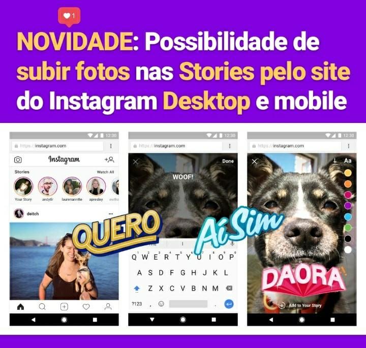 Novidade: Possibilidade de Subir Instagram Stories pelo Desktop