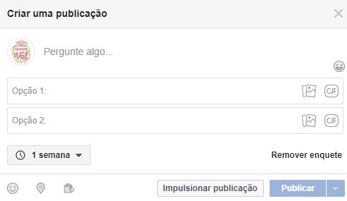 Como criar uma Enquete no Facebook - Passo 2
