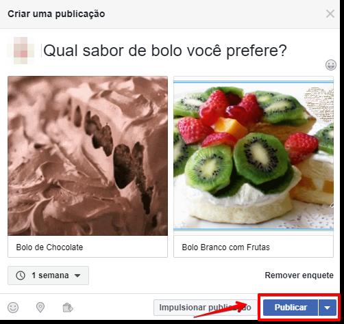 Como criar uma Enquete no Facebook - Passo 3
