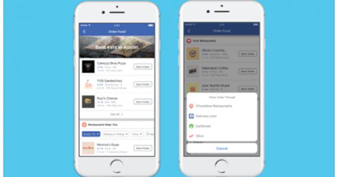 Novidade: Fazer pedidos de comida pelo Facebook