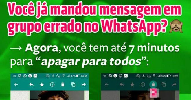 Tutorial: Como Apagar Mensagem Enviada por Engano no WhatsApp? Confira a novidade
